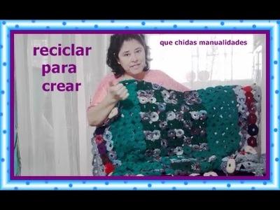 Mantel tejido de estambre reciclado -- Recycling yarn garments