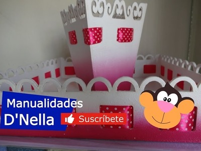 "Manualidades:Como Pintar Fuentes de Trupan para Decoracion By:""Taller Nella 2017"""