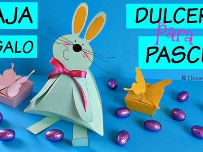 Manualidades para Pascua, Conejo dulcero, Caja de Regalo, Cómo hacer Cajas de Regalo y Dulceros