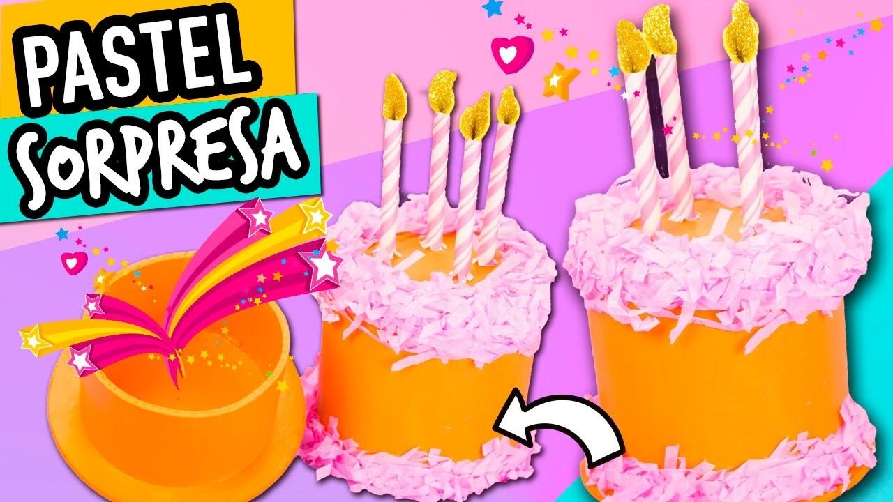 Manualidades para regalar faciles caja de pastel sorpresa - Manualidades para regalar en cumpleanos ...