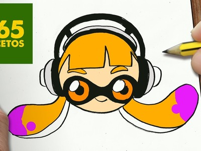 COMO DIBUJAR SPLATOON CHICA O INKLING KAWAII PASO A PASO - Dibujos kawaii fáciles