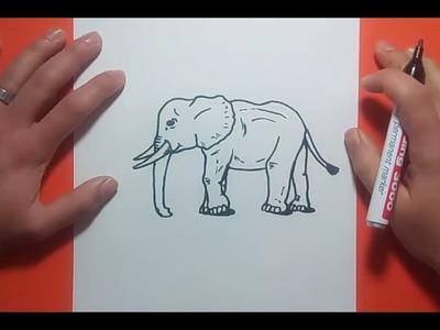 Como dibujar un elefante paso a paso 8 | How to draw an elephant 8