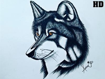 Como dibujar un lobo