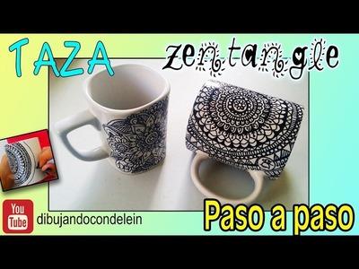 Como dibujar un  Mandala en cerámica o porcelana, taza personalizada