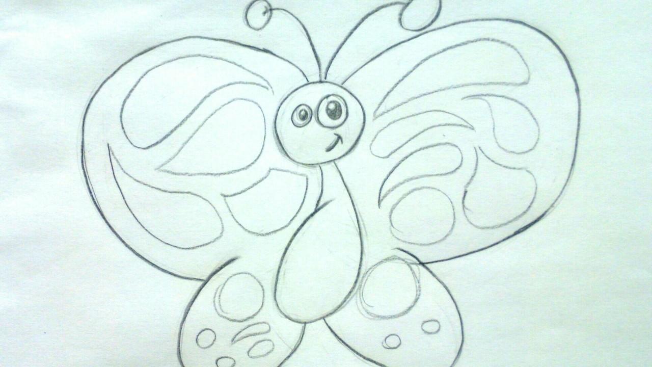 Cómo Dibujar Una Mariposa A Lápiz Paso A Paso Dibujos De Animales