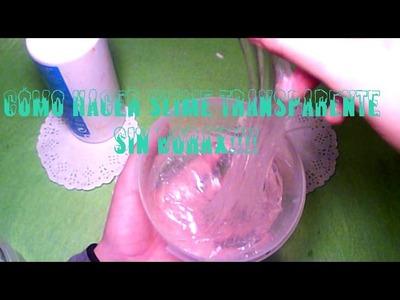 Cómo hacer slime transparente.cristal slime