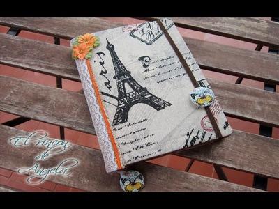 Como hacer un diario de viaje, junk journal, scrapbooking, diario vintage