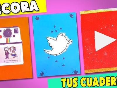 DECORA TUS CUADERNOS + GANADORA DEL SORTEO!. 3 DIY REGRESO A CLASES
