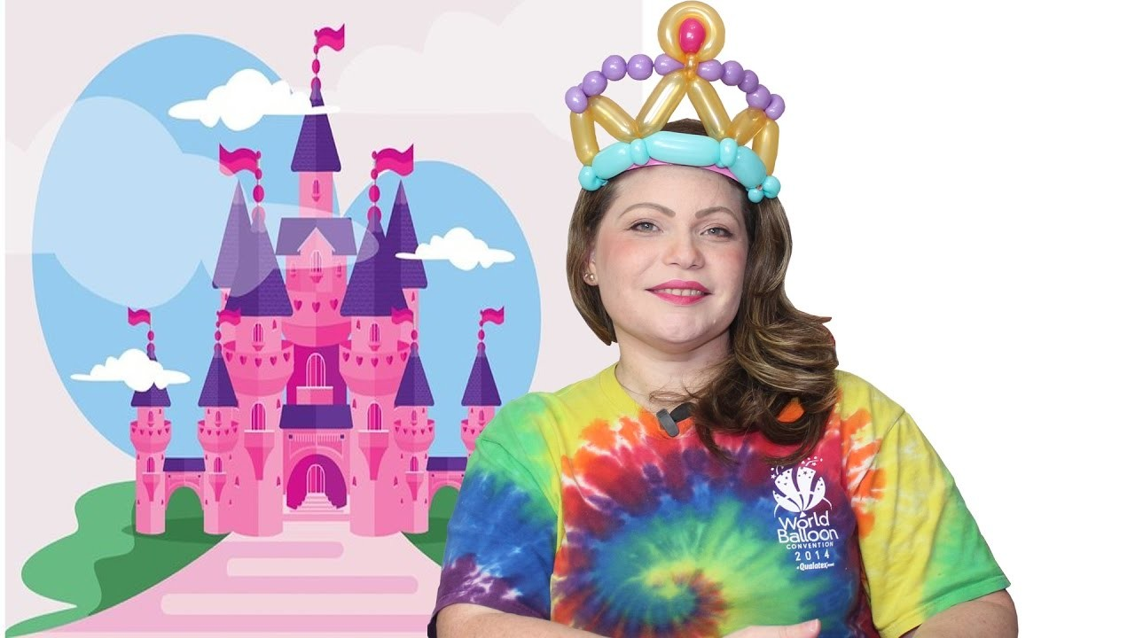 DIY. Como hacer una Diadema de Princesa, Corona Cintillo en Globos, Balloons Belt