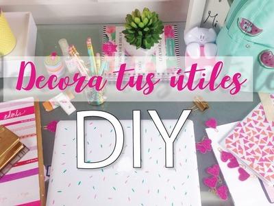 DIY! DECORA TUS ÚTILES ESCOLARES - Clips, cuadernos, lápices y más!