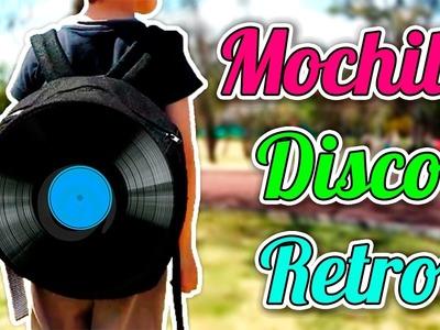 DIY | ¡Vamos a RECICLAR! Haz tu Propia Mochila Disco Retro | Reciclaje | PumitaNegraArt????