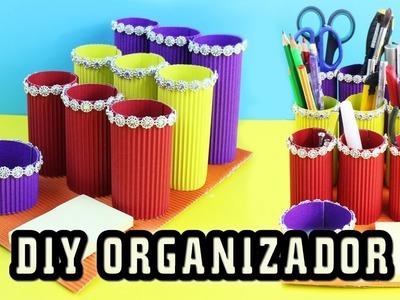 DIY Organizador de cartón - manualidadesconninos