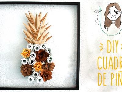 DIY Piña decorativa con flores - Primavera Room Decor I DIYpnotizada