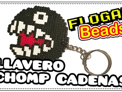 LLAVERO CHOMP CADENAS (SUPER MARIO) - IDEAS HAMA BEADS #10 - FLOGAR BEADS TUTORIALES
