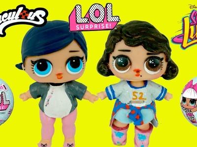 Muñecas L.O.L Sorpresa Pintadas Como Marinette de Ladybug y Soy Luna  DIY  -  Juguetes de Titi