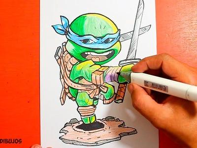 Ninja Turtles - How to Draw Ninja Turtles - Como Dibujar las tortugas Ninja