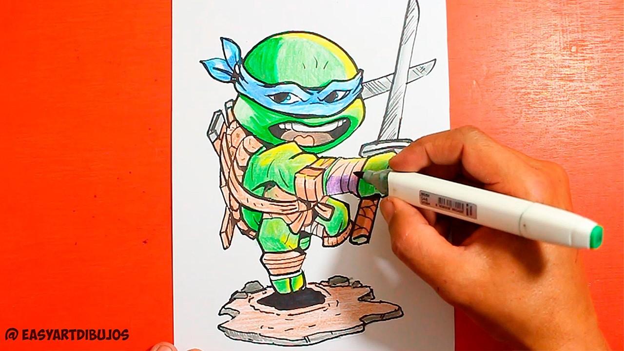 Ninja Turtles How To Draw Ninja Turtles Como Dibujar Las