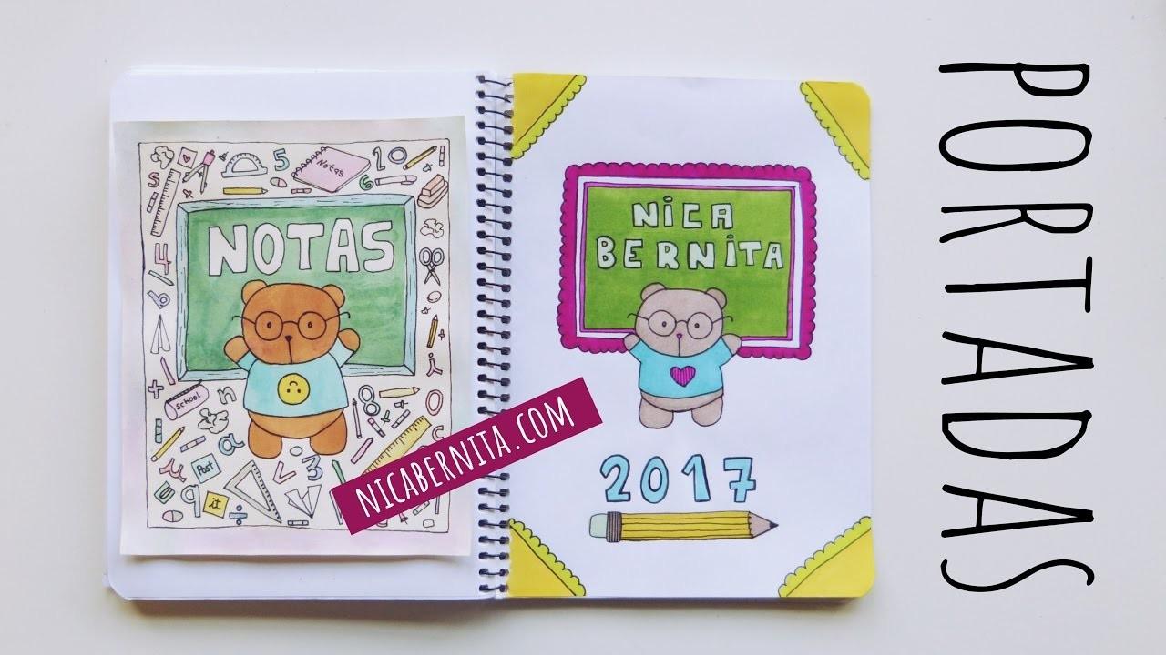 Portadas Para Decorar Cuadernos Libretas Y Agendas: PORTADAS PARA CUADERNOS. Decora Tus Libretas Con Dibujos