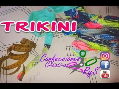 TRIKINI DIY- CURSO GRATIS TRAJE DE BAÑO-SWIMWEAR CON TRUCOS, PATRONES en Youtube  2017