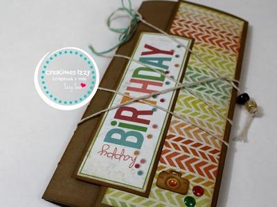 Tutorial mini album scrapbook para cumpleaños. Colaboracion Aniversario Aimep3 * Creaciones Izzy