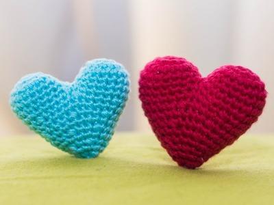 Amigurumi | como hacer un corazon en crochet | Bibiana Mejia Crochet 2017
