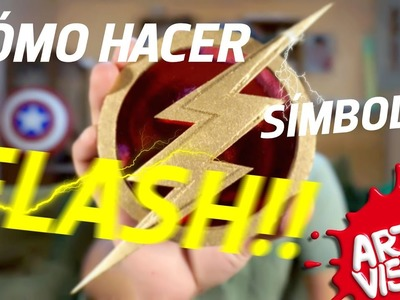 ARTE VISUAL - FLASH COMO HACER SÍMBOLO #AbrilVideosMil DIY #DCComics #JUSTICELEAGUE