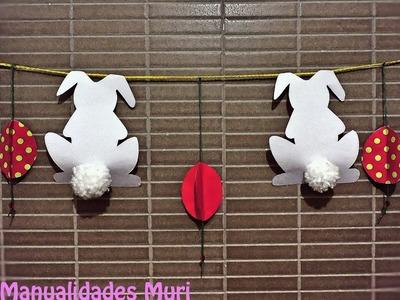 Cadeneta de Decoración para Pascua. DIY