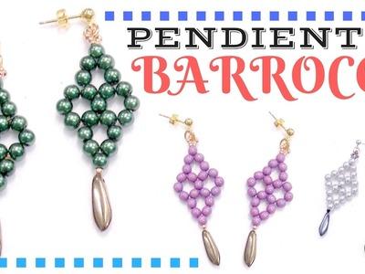 Como hacer unos Pendientes Barrocos con perlas - Tutorial DIY