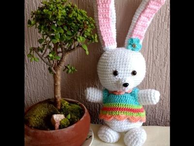 Conejo de pascua en crochet - divertido - tierno - amigurumi paso a paso, fácil y rapido Parte 2