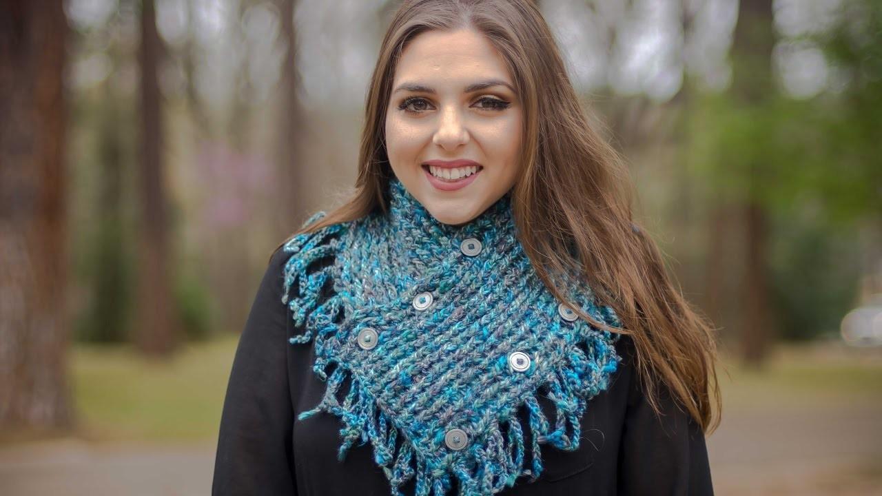 Cuello corto con cadenetas tejido a crochet 002