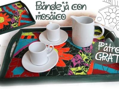 DIY - BANDEJA CON MOSAICO DE AZULEJOS - PLANTILLA GRATIS