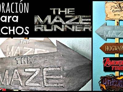 DIY! Letrero The Maze Runner ❤ Mi Letrero de Direcciones | Amellali Mayén