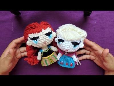 Elsa y Anna de Frozen a Crochet