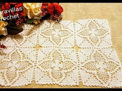 Motivos de Piñas en crochet para Mantel,Colcha,Centro ó Camino de Mesa