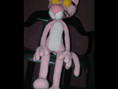 Pantera Rosa al crochet. primera parte: ojos,cejas,parpados,ocico y orejas