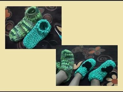 Pantuflas para niños a Crochet