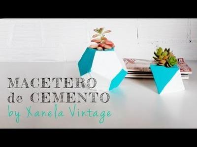 Tutorial DIY - Maceteros de cemento
