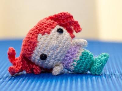 Amigurumi| Como hacer Ariel la sirenita en crochet| Bibiana Mejia Crochet 2017
