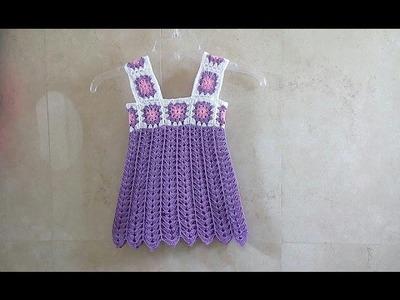 Batita para niña de 3 a 4 años crochet
