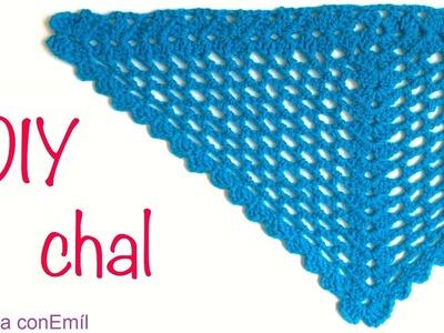 Chal tejido a crochet fácil y rápido paso a paso