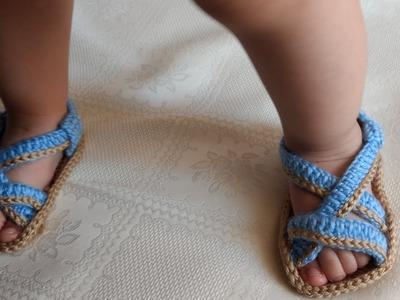 Como hacer hermosas Sandalias en crochet- huaraches - crochet viral