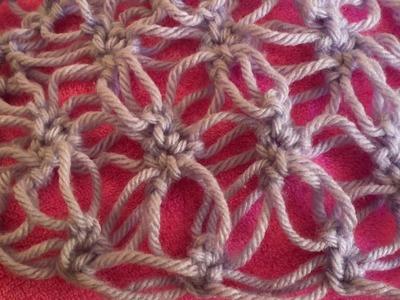 Cómo hacer Punto Flor variación Punto Salomón Crochet.