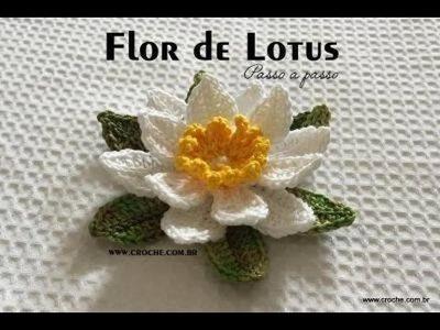 Como hacer una flor de loto tejido a crochet
