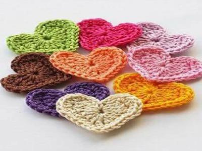 Corazones Tejidos a Crochet