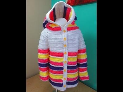 Crochet abrigo de niña de 3 a 5 años para principiantes