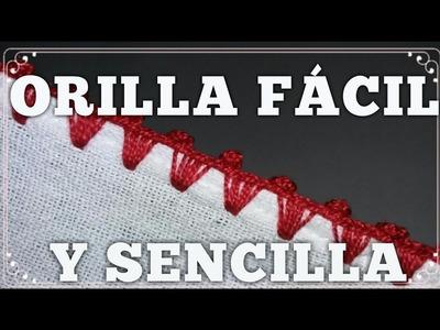 CROCHET ORILLA FACIL Y SENCILLA #6 PARA  PRINCIPIANTES
