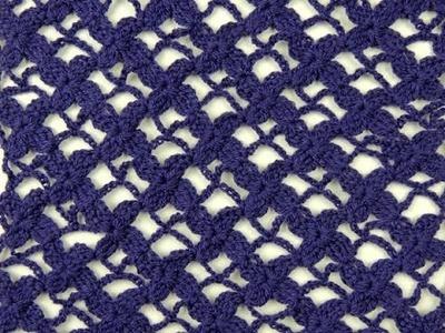 Crochet: Punto Enrejado con Flor Recto # 4