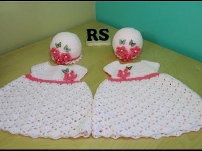 Crochet vestido de niña de 0 a 3 meses para principiantes