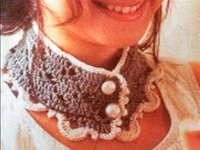 Cuello de verano a crochet. ganchillo con motivo calado