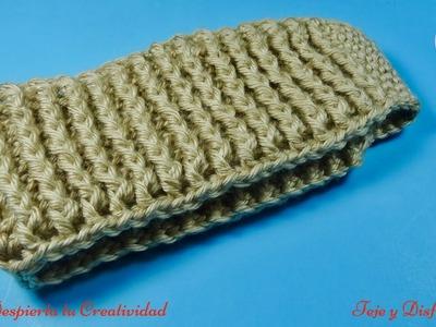 Diadema en punto vareta en relieve a crochet, paso paso